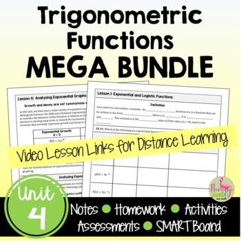 Trigonometric Functions MEGA Bundle (PreCalculus - Unit 4)