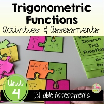 PreCalculus Trigonometric Functions Review & Assessment Bundle