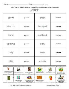 Unit 4 Vocab. Sheets for Scott Foresman® Reading 2000 series
