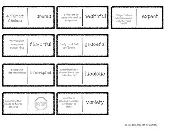 FREEBIE!!! Wonders Unit 4 Vocabulary Dominoes (McGraw-Hill Wonders)
