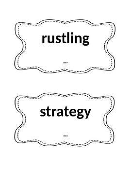 Unit 4 Vocabulary Reading Street