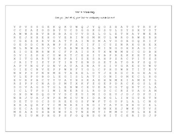 Unit 4 Vocabulary Word Search