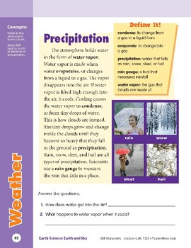 Unit 4: Weather: Concepts (Skill Sharpeners: Science)