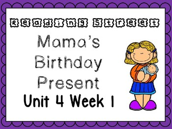 Unit 4 Week 1 Mama's Birthday Present PowerPoint Reading Street First Grade