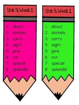 Reading Wonders Unit 4 Week 1 Pencil Pairs ***WITH 72 BONUS PAGES***