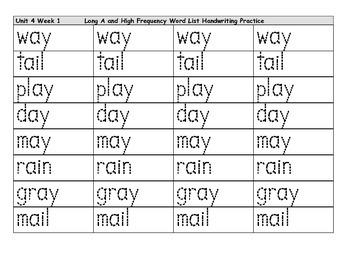 Unit 4 Week 1 Reading Street Spelling Words
