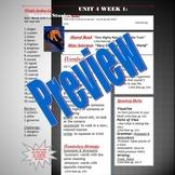 Unit 4 Week 1 Skills Guide Fifth Gr based on McGraw Hill Wonders Davy Crockett