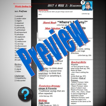 Unit 4 Week 2 Skill Guide Fifth Gr based McGraw Hill Wonde