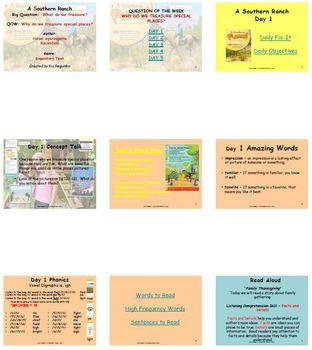 Unit 4 Week 4 - Lesson - A Southern Ranch- Lesson Bundle (Version 2013 & 2011)