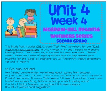 Unit 4, Week 4 Study Guide for Wonders Second Grade