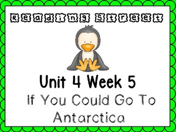 Unit 4 Week 5 Kindergarten PowerPoint Reading Street