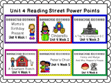 Unit 4 Weeks 1-6 PowerPoints Reading Street Bundle First Grade
