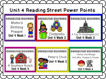 Unit 4 Weeks 1-6 PowerPoints Reading Street Bundle First Grade