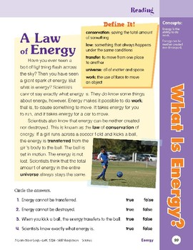 Unit 4: What Is Energy?: Concepts (Skill Sharpeners: Science)