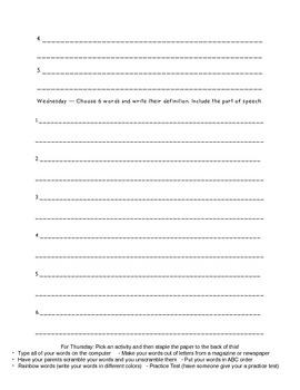 Unit 4 Within Word Homework