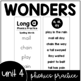 Unit 4 Wonders Phonics Practice Booklet