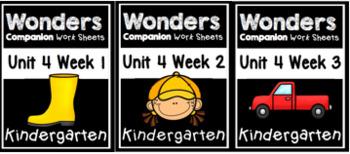Unit 4 Wonders Week 1-3 Worksheets/Centers BUNDLE
