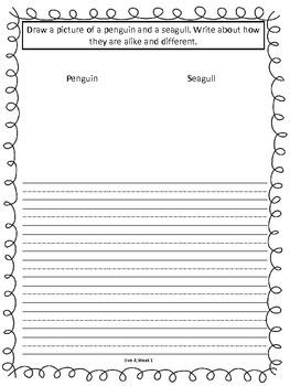 Unit 4 Writing Journal Prompts Macmillan/McGraw-Hill Treasures First Grade