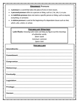 Unit 4 packet for McGrawhill Wonders Grade 4