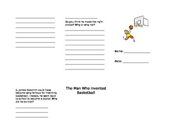 Unit 4.1 The Man Who Invented Basketball Trifold