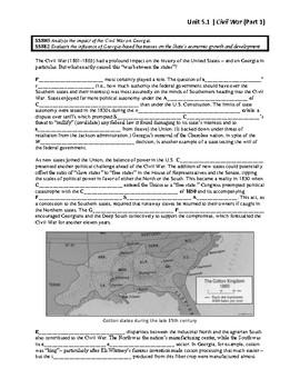 Unit 5.1 - Civil War (SS8H5, SS8E2)