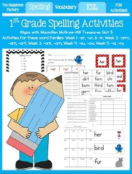 Unit 5 ~ 1st Grade Spelling Packet