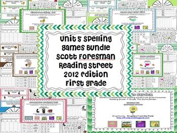 Unit 5 2012 Reading Street First Grade Spelling Games Bundle