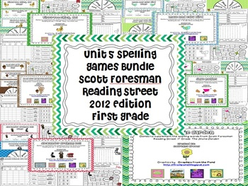 Unit 5 2012 Reading Street First Grade Spelling Games Bundle