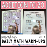 Unit 5 Addition Strategies - 100+ First Grade Paperless or Printable Lessons