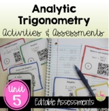 PreCalculus Analytic Trigonometry Review & Assessment Bundle