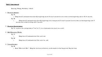 Unit 5 Assessment - Reading Wonders