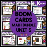 BOOM CARDS Distance Learning Unit 5 Math bundle | KINDERGARTEN
