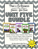 Unit 5 Bundle Journeys First Grade Print and Go