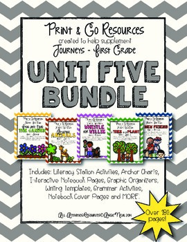 Unit 5 Bundle Journeys First Grade Print and Go