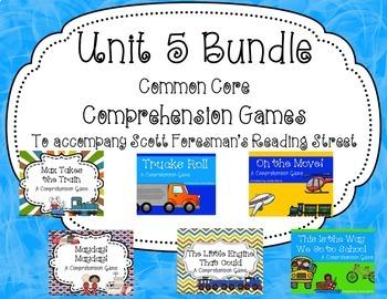 Unit 5 Common Core Comprehension Game Bundle