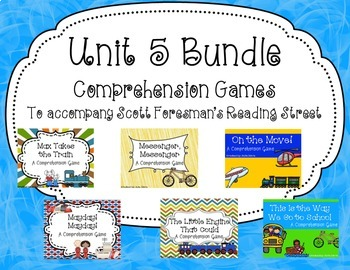 Unit 5 Comprehension Game Bundle