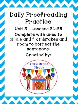 Unit 5 Daily Proofreading and Language Practice (DLP) for 3rd Grade Journeys