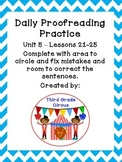 Unit 5 Daily Proofreading and Language Practice (DLP) for