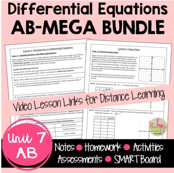 Calculus: Differential Equations Bundled Unit