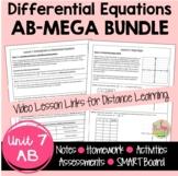 Differential Equations MEGA Bundle with Video Lessons (AB Version - Unit 7)