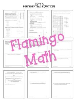 Calculus: Differential Equations Notes & Homework Bundle