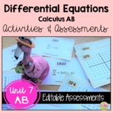 Differential Equations Activities and Assessments  (Calcul