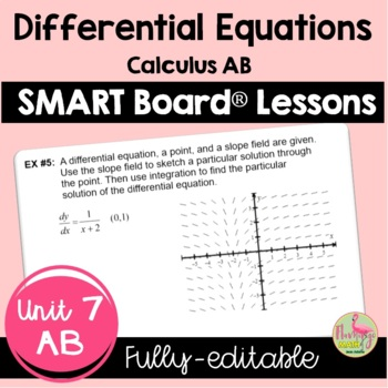 Calculus: Differential Equations SMARTBOARD Lessons Bundle