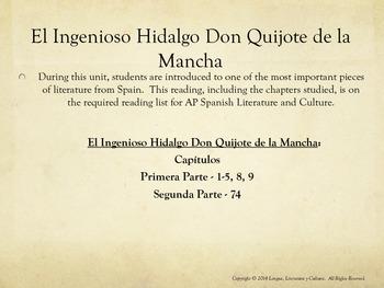 Unit 5 - El Ingenioso Hidalgo Don Quijote de la Mancha - AP Span Lit & Culture