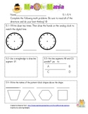 Unit 5 Everyday Math 2nd Grade Skill Star Assessment Commo