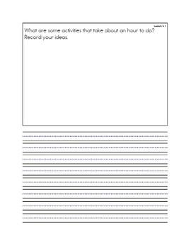 Unit 6 Everyday Math Message Notebook