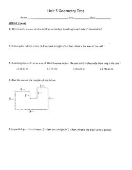 Unit 5 Geometry Test