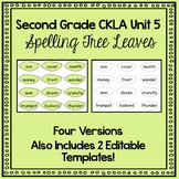 Unit 5 Grade 2 CKLA Spelling Tree Leaves- FOUR VERSIONS and EDITABLE TEMPLATES