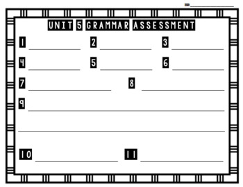 Unit 5 Grammar Assessment