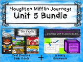 Unit 5 Houghton Mifflin Journeys MEGA BUNDLE (Homework & Q